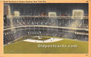 Night Baseball at Yankee Stadium New York City, NY, USA Stadium 1949