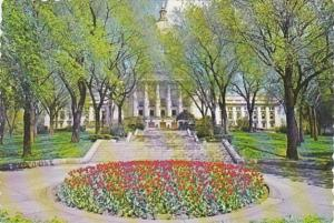 Wisconsin Madison State Capitol Building At Tulip Time