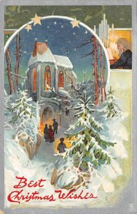 Christmas Post Card Antique Xmas Postcard Raphael Tuck & Sons Publishing Writ...