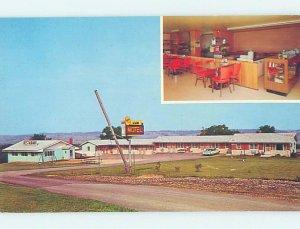 Pre-1980 MOTEL SCENE Elizabeth - Near Stockton & Galena Illinois IL AD8897