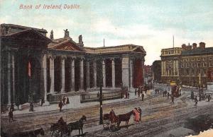Ireland Dublin Bank of Ireland Tram Horse Carts Carriages 1906
