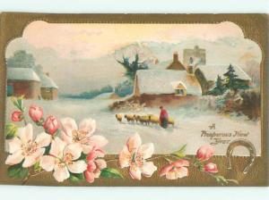 Divided-Back NEW YEAR SCENE Great Postcard AA1902