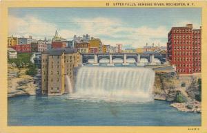 Rochester, New York - Upper Falls of the Genesee River - Linen