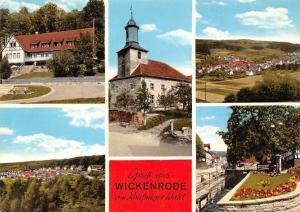 Gruss aus Helsa-Wickenrode Kirche, Church Park Panorama