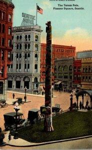 Washington Seattle Pioneer Square The Totem Pole