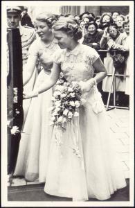 Dutch Princesses (Later Queen) Beatrix and Irene (1953) RPPC