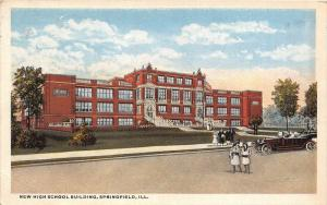 11891 Springfield 1920's  New High School Building