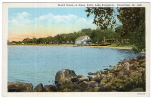 Watertown, So. Dak., Beach Scene on Stony Point, Lake Kampeska