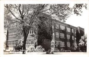 Pocahontas Iowa~Public School Building & Grounds~1950s Real Photo Postcard