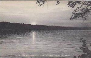 Maine Bridgton Sunset On Woods Lake Pioneer Camps Artvue