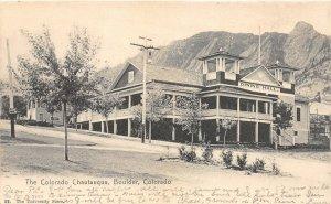 H73/ Boulder Colorado Postcard c1910 Chautauqua Grounds Dining Hall 154