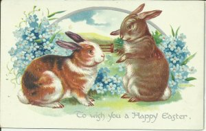 To Wish You A Happy Easter --- Tuck  , EMBOSSED