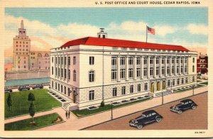 Iowa Cedar Rapids Post Office and Court House Curteich