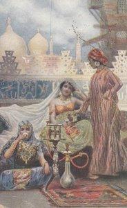MAROC , 1918 ; Women having coffee
