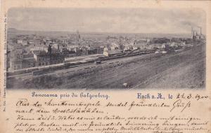 Panorama pris du Galgenberg (Train/Railroad yards), Esch s. A., Luxembourg, 1900