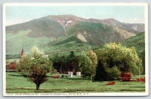 White Mountains NH~Sugar Hill~Mt Lafayette Snow Cross~c1915 Detroit Pub Co~13230