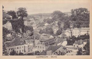 Bird´s-eye view of Grund, Luxembourg, 10-20s