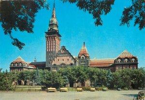 Postcard Serbia Subotica gradska kuca stamp church castle palace tower clock