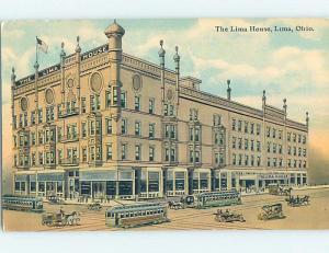 Divided-Back HOTEL SCENE Lima Ohio OH B3182