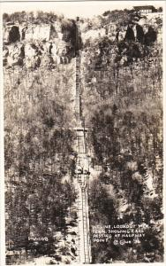 Tennessee Chattanooga Incline Showing Cars Passing At Halfway Point Lookout M...