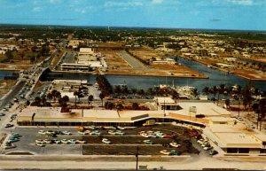 Florida Pompano Beach Aerial View Of New Oceanside Shopping Center 1959
