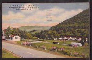 PA Coudersport Lindy Cottages 1954