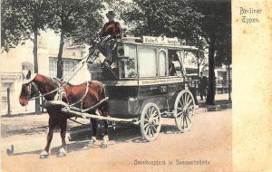 Berlin Germany Types Horse Drawn Omnibus Wagon Postcard