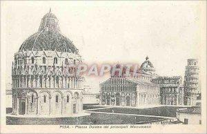 Postcard Old Pisa Piazza Duomo silent principali Monuments