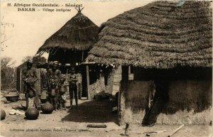CPA AK Fortier 21 Dakar- Village indigene SENEGAL (812236)