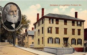 25286 ME, Portland, Birthplace of Longfellow, Henry Wadsworth Longfellow