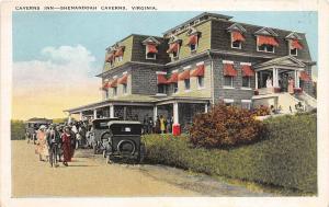 C62/ Shenandoah Caverns Virginia Va Postcard c1910 Caverns Inn Hotel Crowd
