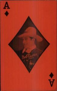 Cowboy Actor - Poker Playing Card Postcard BOB CUSTER ACE DIAMONDS