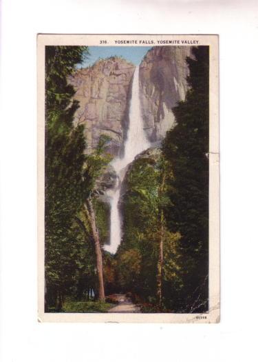 Yosemite Falls, Yosemite Valley, California, Western Publishing and Novelty