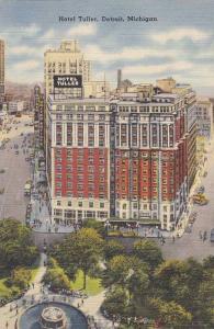 Birds Eye View, Hotel Tuller & Fountain, Detroit Michigan 1930-40s