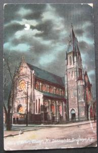 Lady Of Victory Church McDonough St Brooklyn NY 1908 Illustrated Pst Card 158-21
