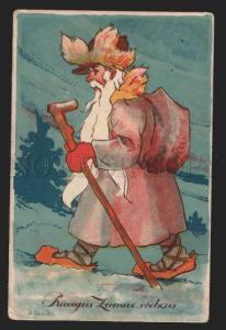 116795 Funny SANTA CLAUS by GAILINS Vintage Colorful PC