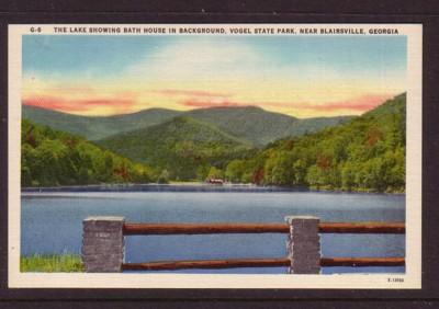 Linen colour PC Lake Bath House Vogel State Park Blairsville,, GA unused