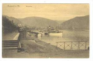 BOPPARD, Germany 1910s, Rheinallee, Steamboat at landing