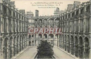 Postcard Old St Germain en Laye (s and O) inside the castle courtyard ap