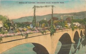 Shelburne Falls Massachusetts~Bridge Of Flowers on Mohawk Trail~1940s PC