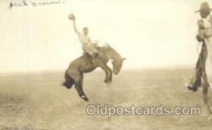 Cowboy Riding Bronco Western Cowboy, Cowgirl Postcard Postcards  Cowboy Ridin...
