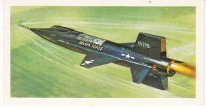 Trade Card Brooke Bond Tea History of Aviation black back reprint No 42 X-15