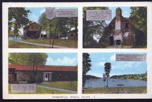Ontario MultiView AMHERSTBURG - PECO Postcard  - White Border