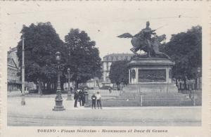 Piazza Solferino, Monumento Al Duca' Di Genova, TORINO (Piedmont), Italy, PU-...