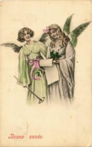 CPA Angels with a Letter and a Trumpet ANGELS (777524)