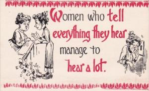 Motto Card Women Who Tell Everything They Hear