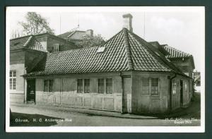 Denmark. Postcard. H.C. Andersen, House,Odense.