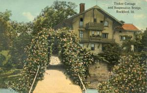 Tinker Cottage and Suspension Bridge - Rockford IL, Illinois - DB