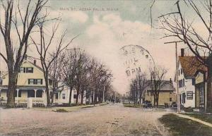 Maine Kezar Falls Main Street 1908