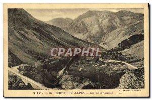 Old Postcard Route Des Alpes Col De La Cayolle